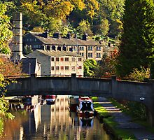 Hebden Bridge in Autumn by inkedsandra
