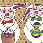 Easter bunnies by Kelly Gatchell Hartley