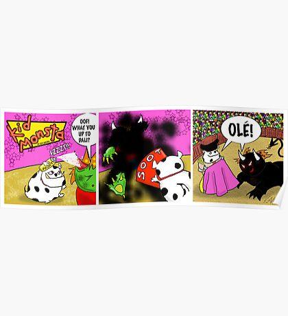 Kid Monsta Triptych 10 Poster