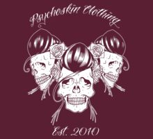 Rockabilly skull Trio by Psychoskin