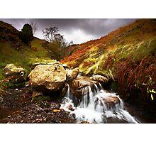 Waterfall on Hardknott Pass Photographic Print