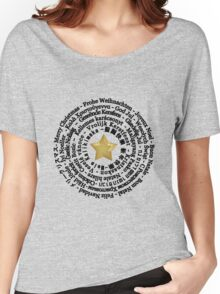 Merry Christmas in Different Languages - Black design Women's Relaxed Fit T-Shirt