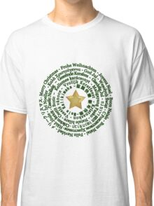 Merry Christmas in Different Languages - Green design Classic T-Shirt