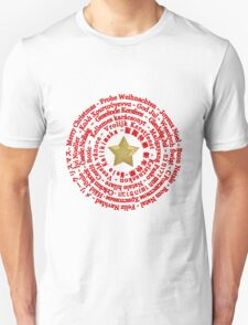 Merry Christmas in Different Languages Unisex T-Shirt