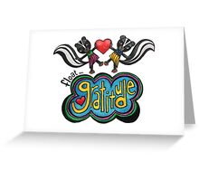 Float on Gratitude: Cute Skunk Whimsical Watercolor Illustration Greeting Card
