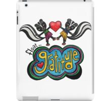 Float on Gratitude: Cute Skunk Whimsical Watercolor Illustration iPad Case/Skin