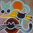 sleepy cats by Chantal Guyot