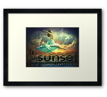 It is almost impossible to watch a sunset and not DREAM Framed Print