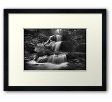 Shawnee Falls (version III) Oct 2011 Framed Print