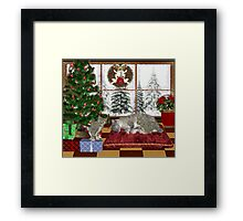 Cat and Kittens .. December Cats Framed Print
