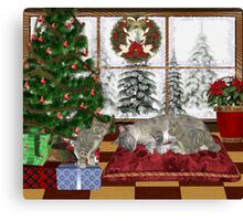 Cat and Kittens .. December Cats Canvas Print