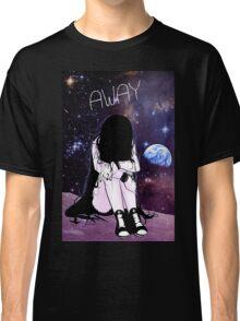 Anime Sad girl gone away on the Moon Classic T-Shirt