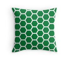 Green Honecomb Pattern Throw Pillow