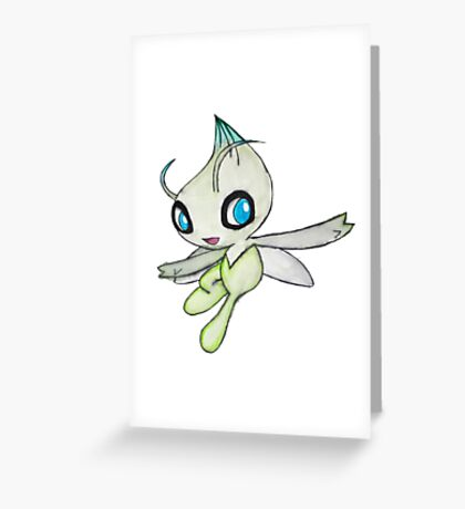 Celebi Pokemon  Greeting Card