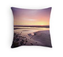 Setting Sun at Findhorn (v2) Throw Pillow