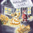 Naughty List Christmas Card! by weirdpuckett