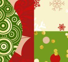 Modern Christmas, Modern holiday art Sticker