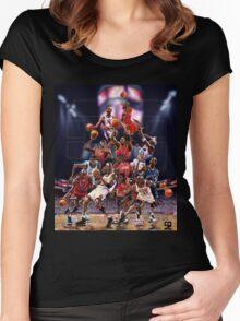 Michael Jordan career timeline  Women's Fitted Scoop T-Shirt