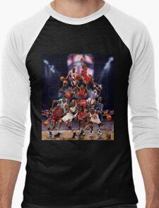 Michael Jordan career timeline  Men's Baseball ¾ T-Shirt