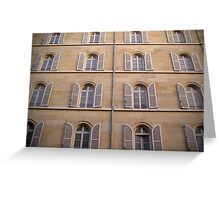 Parisian Windows Greeting Card