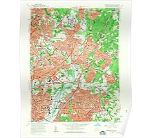 USGS Topo Map Maryland Washington East 256975 1956 24000 Poster