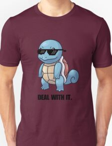 Squirtle - Deal with it. (Pokemon) T-Shirt