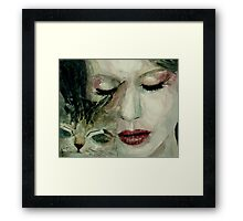 They said the world was built for two, only worth living if somebody is loving you Framed Print