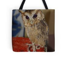 This is Flint the Little Owl Tote Bag