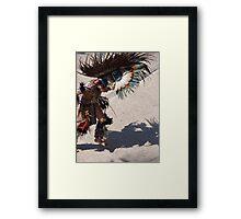 Indian dancer at the malecon of Puerto Vallarta Framed Print