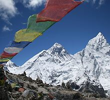 Everest and Nuptse from Kalla Pattar by Jan Vinclair