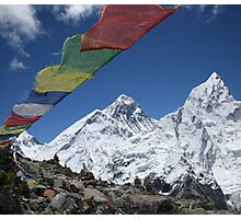 Everest and Nuptse from Kalla Pattar Photographic Print