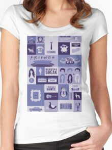 Friends TV Show Women's Fitted Scoop T-Shirt