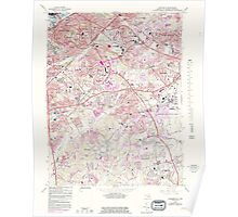 USGS Topo Map District of Columbia DC Anacostia 255892 1965 24000 Poster