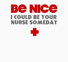 Be Nice Womens Fitted T-Shirt