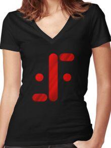Visitor Symbol (Classic 'V') Women's Fitted V-Neck T-Shirt