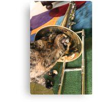 Trombone and Gracie Canvas Print