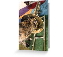 Trombone and Gracie Greeting Card