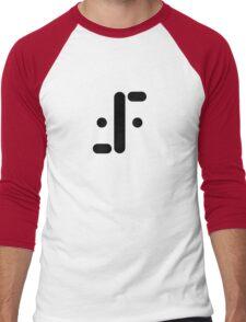 Visitor Symbol (Classic 'V') Black Men's Baseball ¾ T-Shirt