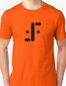 Visitor Symbol (Classic 'V') Black Unisex T-Shirt