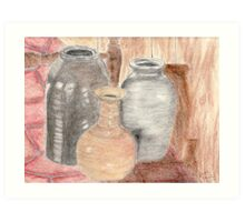 Still Life with Pottery Art Print