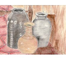 Still Life with Pottery Photographic Print