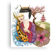 Gisha & Koi 2015 Canvas Print