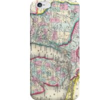 Vintage Map of Michigan and Wisconsin (1860) iPhone Case/Skin