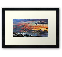 Weston Super Mare at Dusk Framed Print