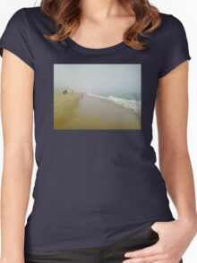 People by the Misty Ocean Women's Fitted Scoop T-Shirt