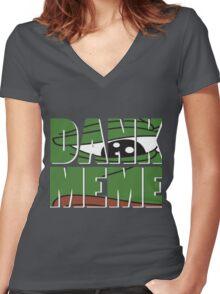 dank meme Women's Fitted V-Neck T-Shirt