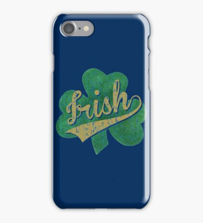 Shamrock Irish Vintage iPhone Case/Skin