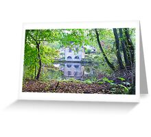 Calver Boat House Derbyshire Greeting Card