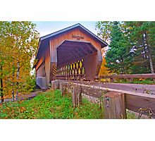 Smith Rapids Covered Bridge,Price County,Wisconsin U.S.A. Photographic Print