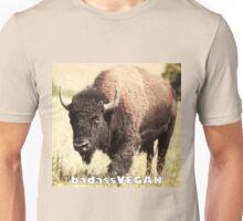 badassVEGAN bison Unisex T-Shirt